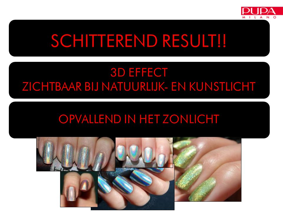 SCHITTEREND RESULT!! 3D EFFECT ZICHTBAAR BIJ NATUURLIJK- EN KUNSTLICHT OPVALLEND IN HET ZONLICHT