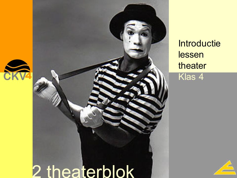 Introductie lessen theater Klas 4 2 theaterblok