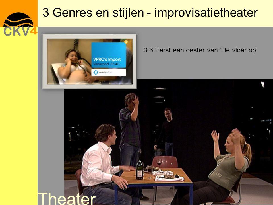 3 Genres en stijlen - improvisatietheater 3.6 Eerst een oester van 'De vloer op' Theater