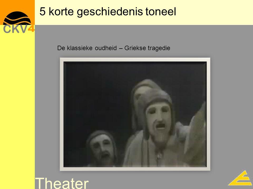 5 korte geschiedenis toneel Theater De klassieke oudheid – Griekse tragedie