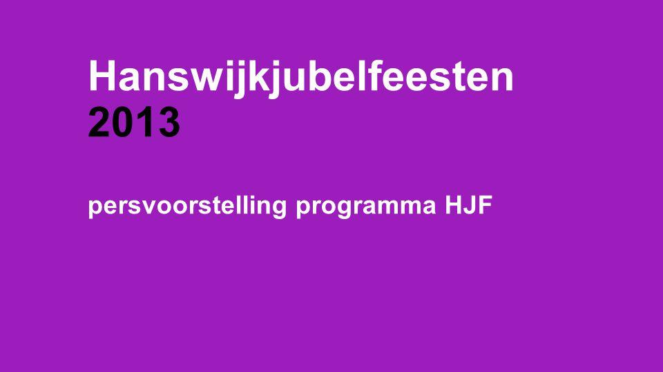 Hanswijkjubelfeesten 2013 persvoorstelling programma HJF