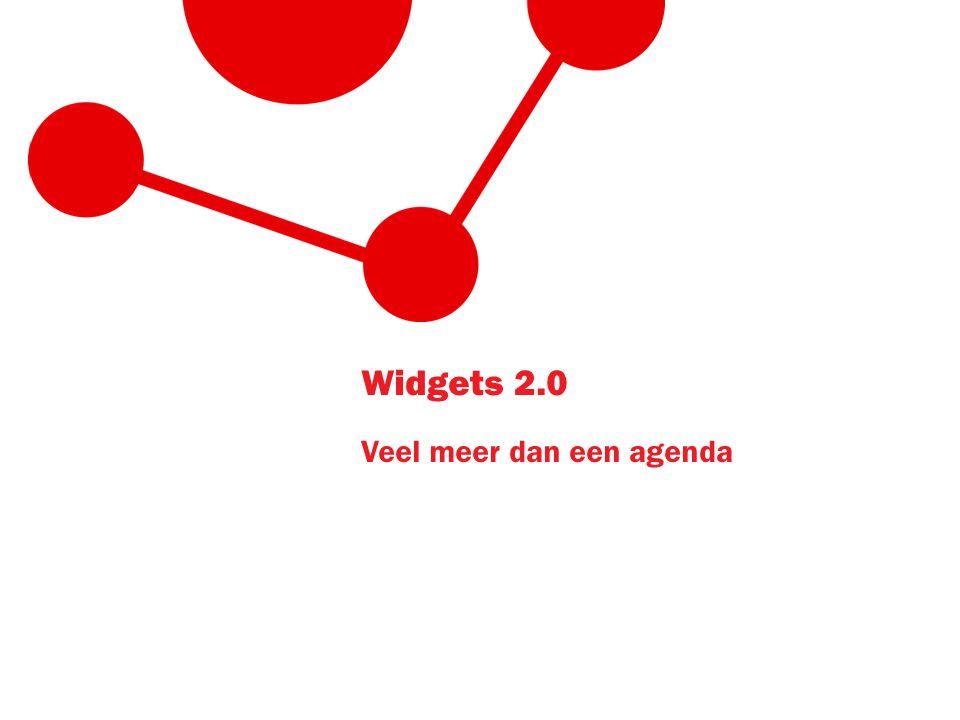Widgets 2.0 Veel meer dan een agenda
