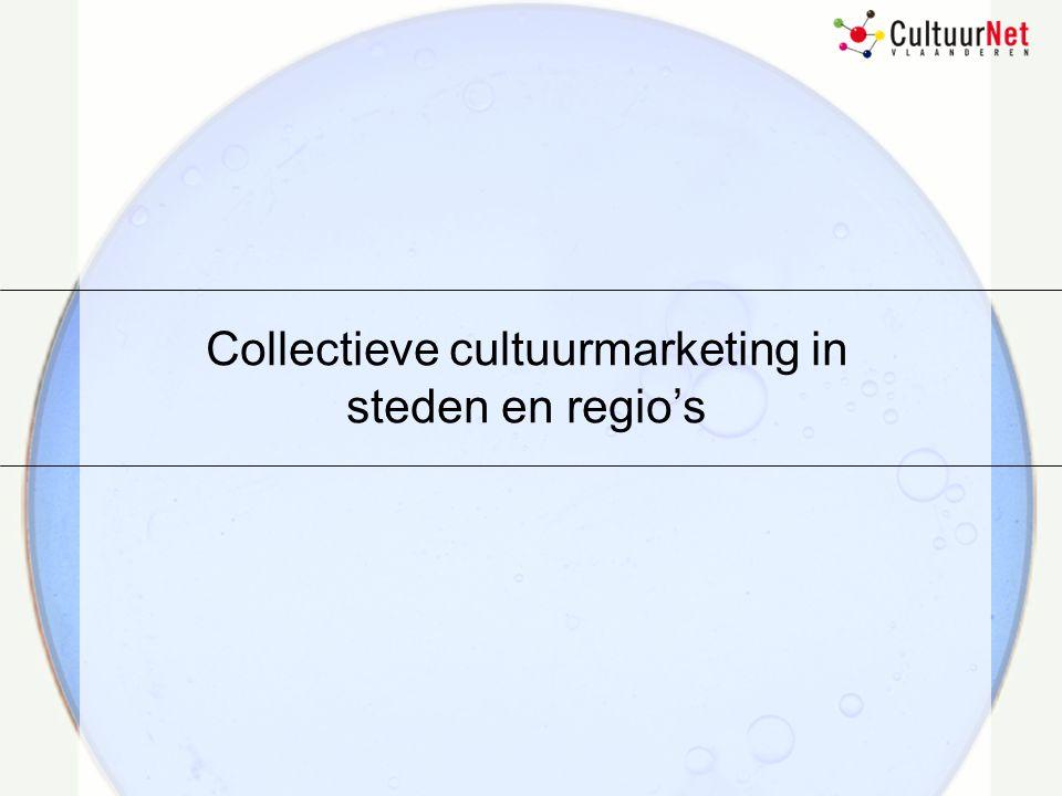 26 februari 2003 Inleiding / Aanleiding  Collectief beeld van een stad of regio als cultuurstad /regio uitdragen  Structurele lange termijn oplossingen i.p.v.