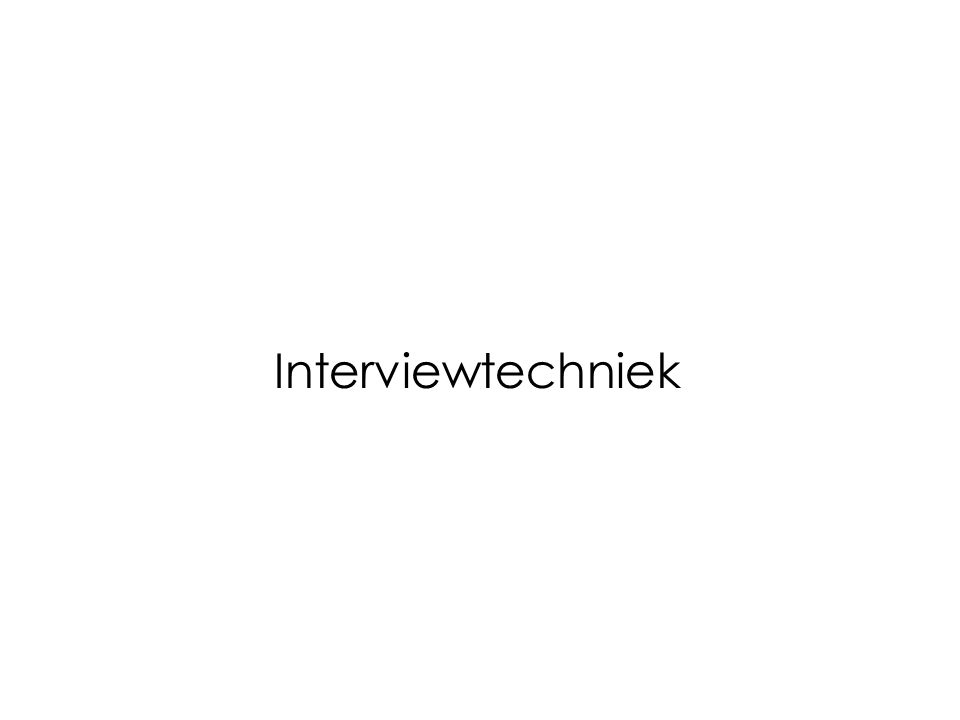 Interviewtechniek