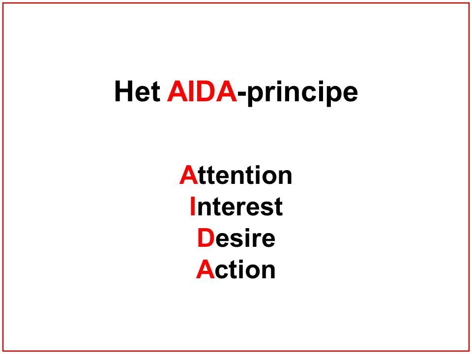 Het AIDA-principe Attention Interest Desire Action