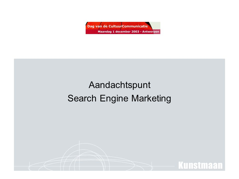 Aandachtspunt Search Engine Marketing