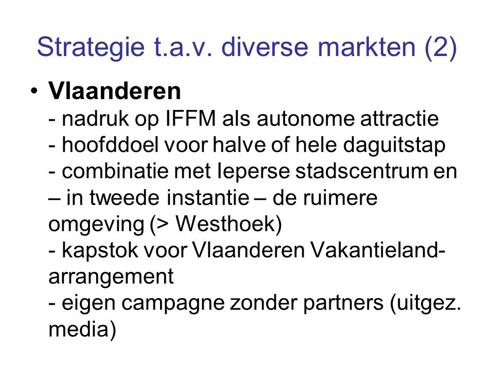 Strategie t.a.v.