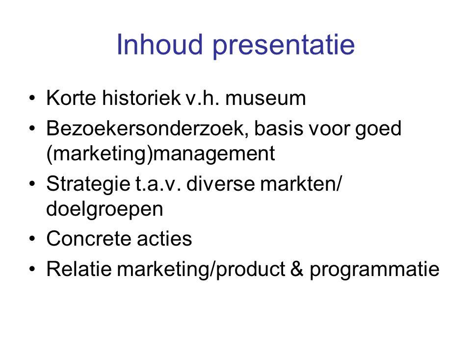 Inhoud presentatie Korte historiek v.h.