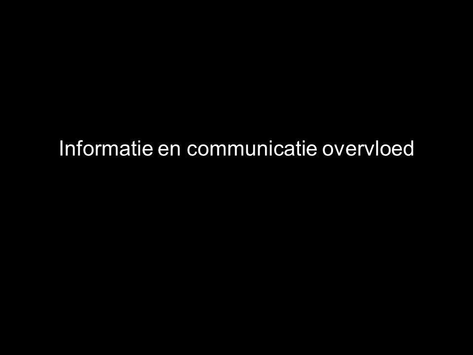 Informatie en communicatie overvloed