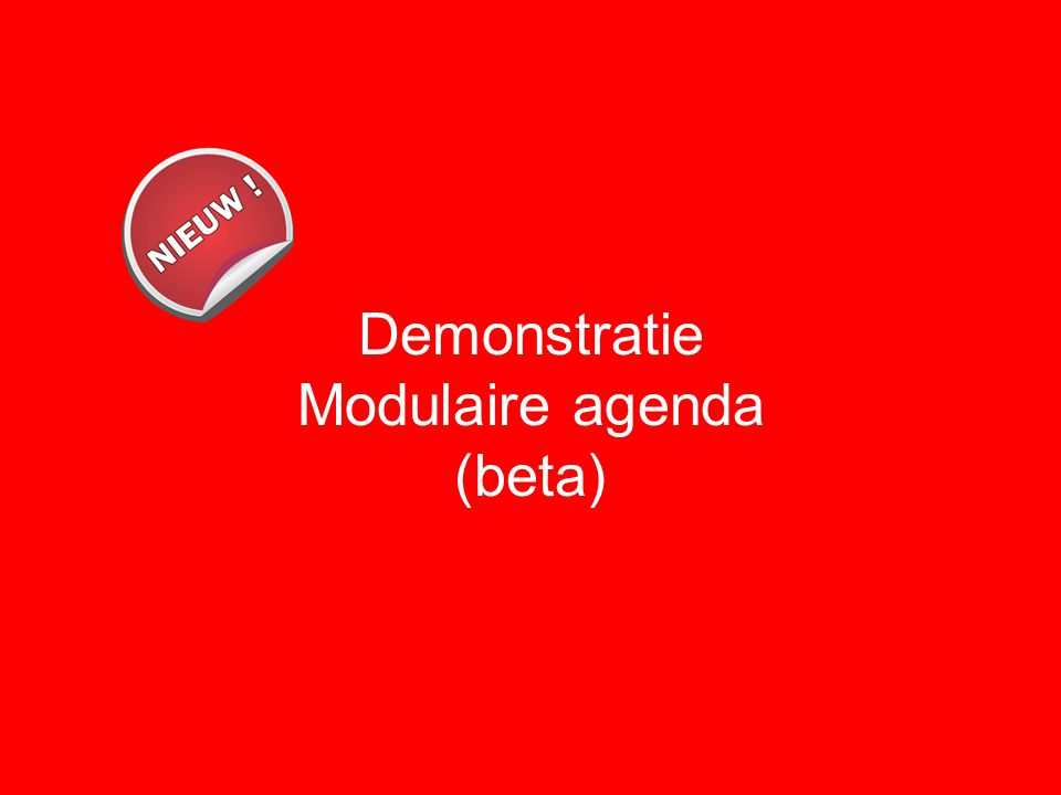 Demonstratie Modulaire agenda (beta)
