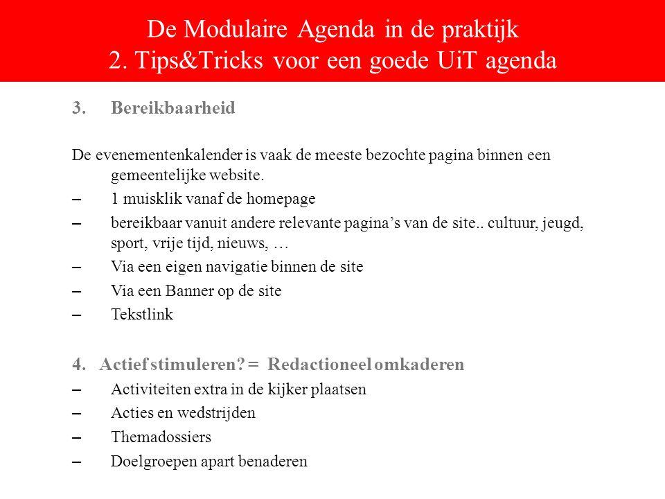 De Modulaire Agenda in de praktijk 2.