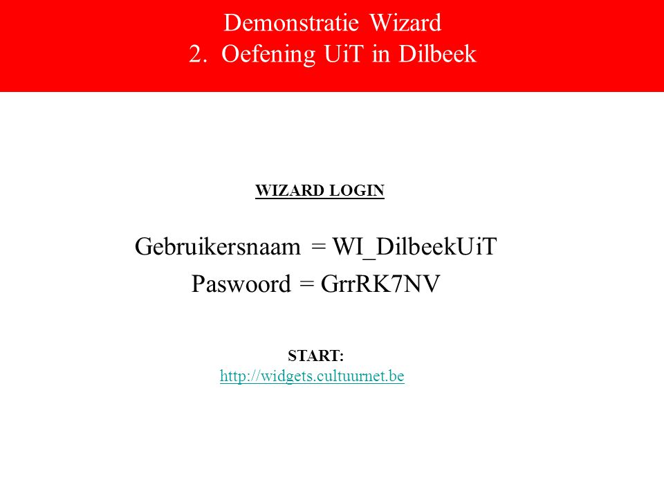 Demonstratie Wizard 2.