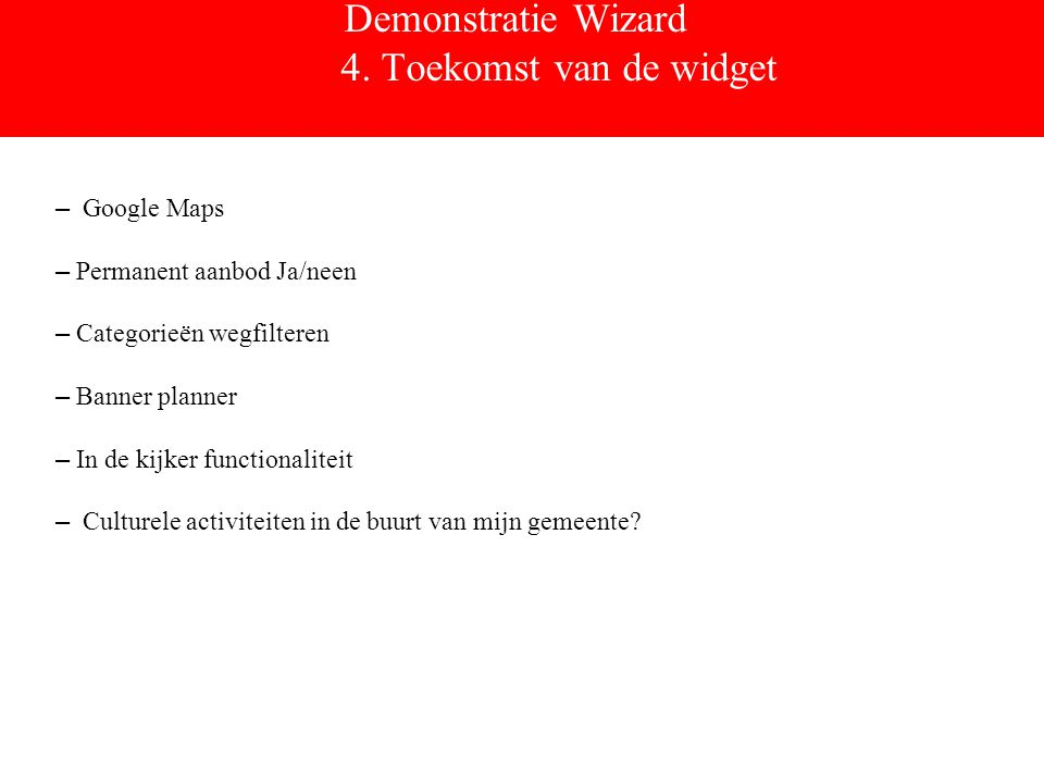 Demonstratie Wizard 4.