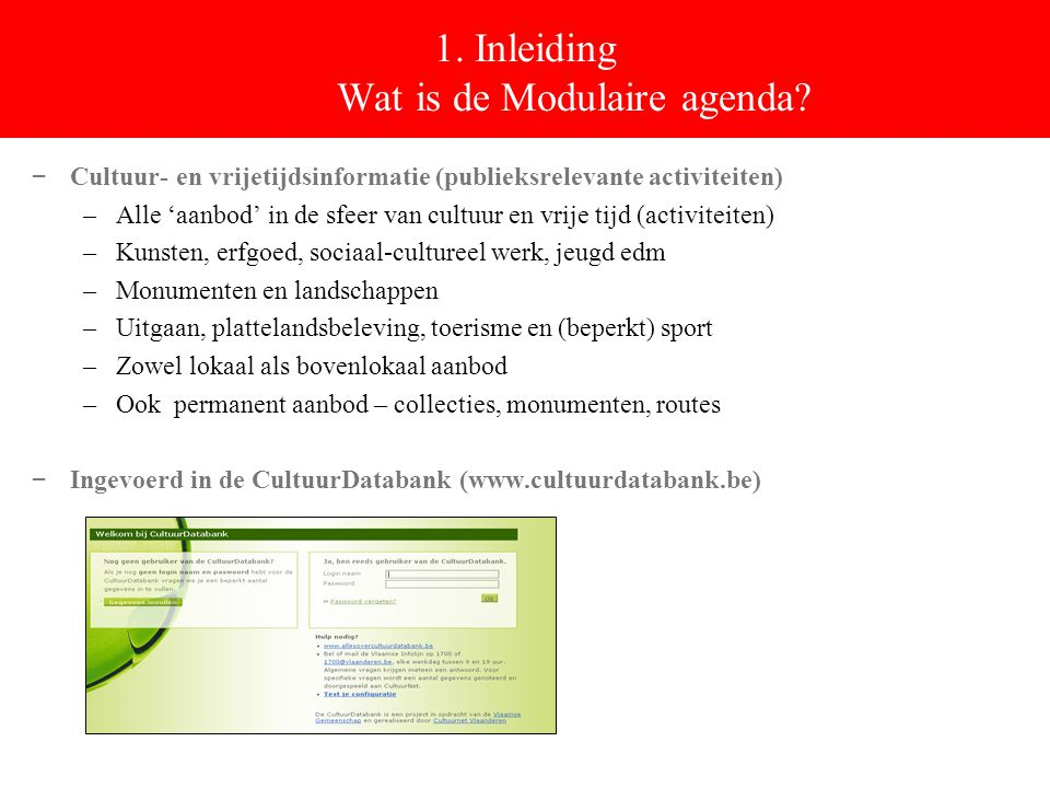 1. Inleiding Wat is de Modulaire agenda.