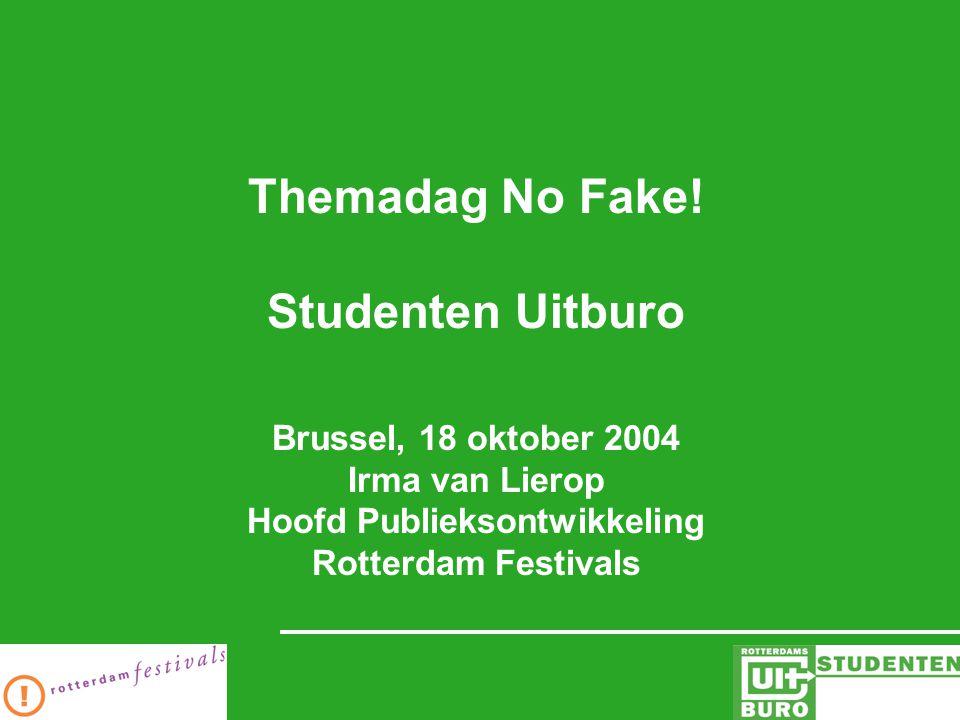 Coördineert in opdracht van de gemeente Rotterdam het evenementenbeleid in de stad en faciliteert en organiseert een aantal activiteiten op het gebied van publieksverbreding in de culturele sector.