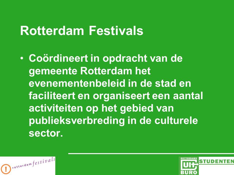 Kernactiviteiten Evenementen De Rotterdamse Zomerfestivals September in Rotterdam Koepelcampagnes