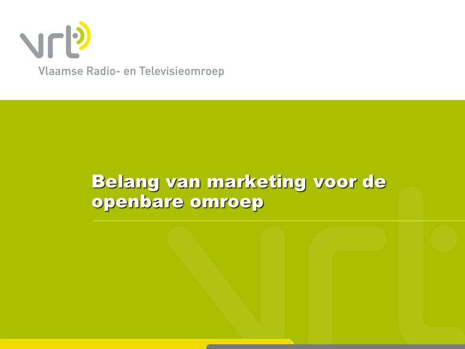 Belang van marketing voor de openbare omroep