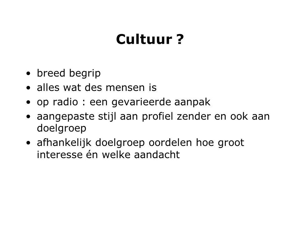 Cultuur .