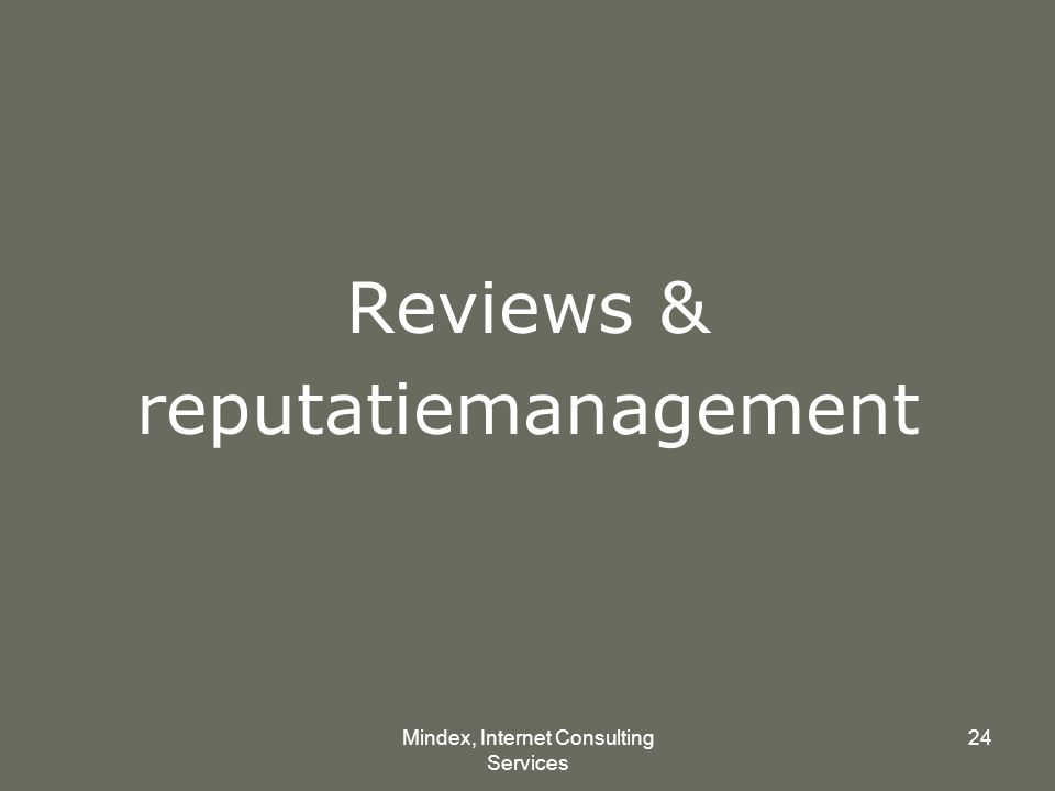 Mindex, Internet Consulting Services 24 Reviews & reputatiemanagement