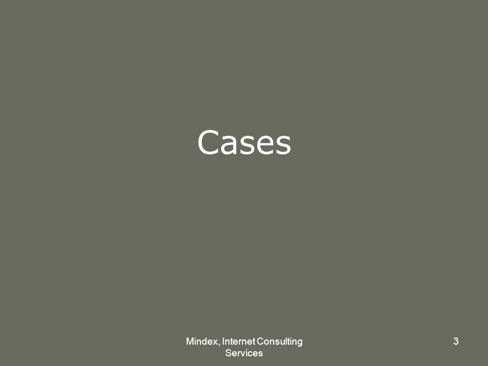 Mindex, Internet Consulting Services 3 Cases