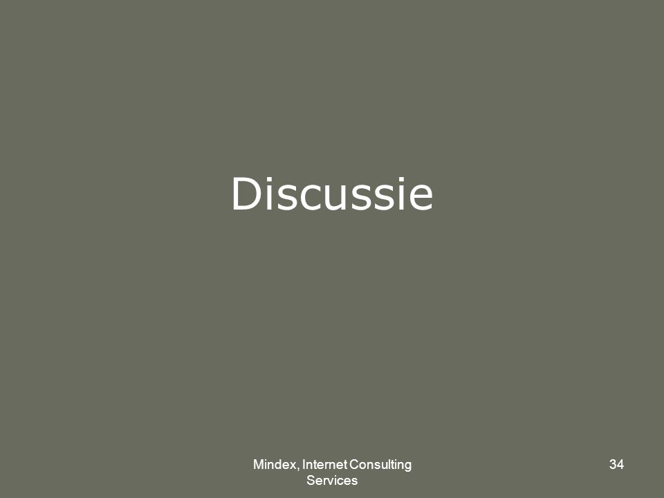 Mindex, Internet Consulting Services 34 Discussie
