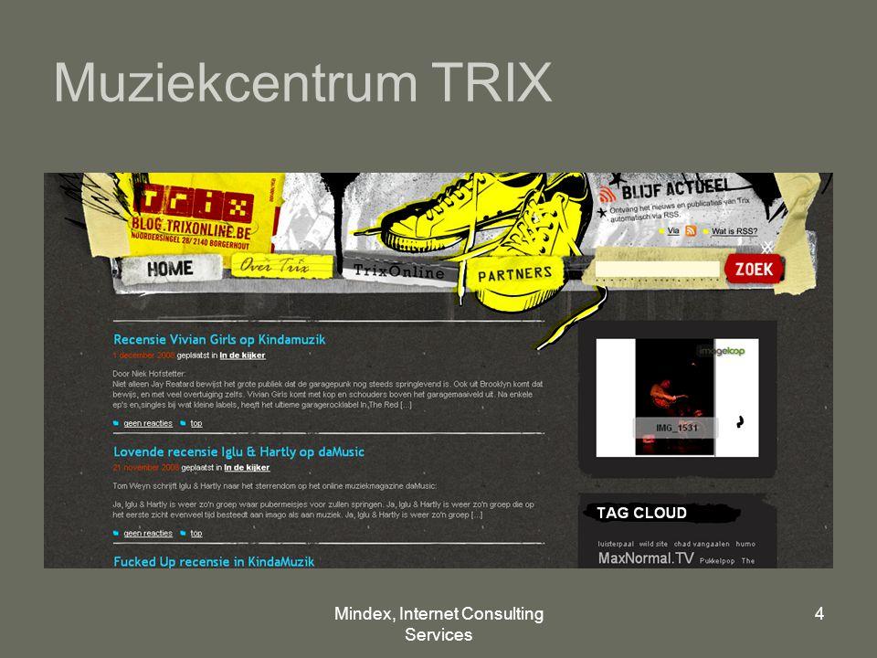 Mindex, Internet Consulting Services 4 Muziekcentrum TRIX
