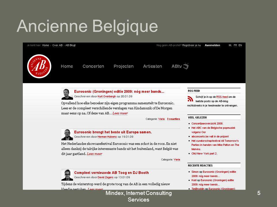 Mindex, Internet Consulting Services 5 Ancienne Belgique