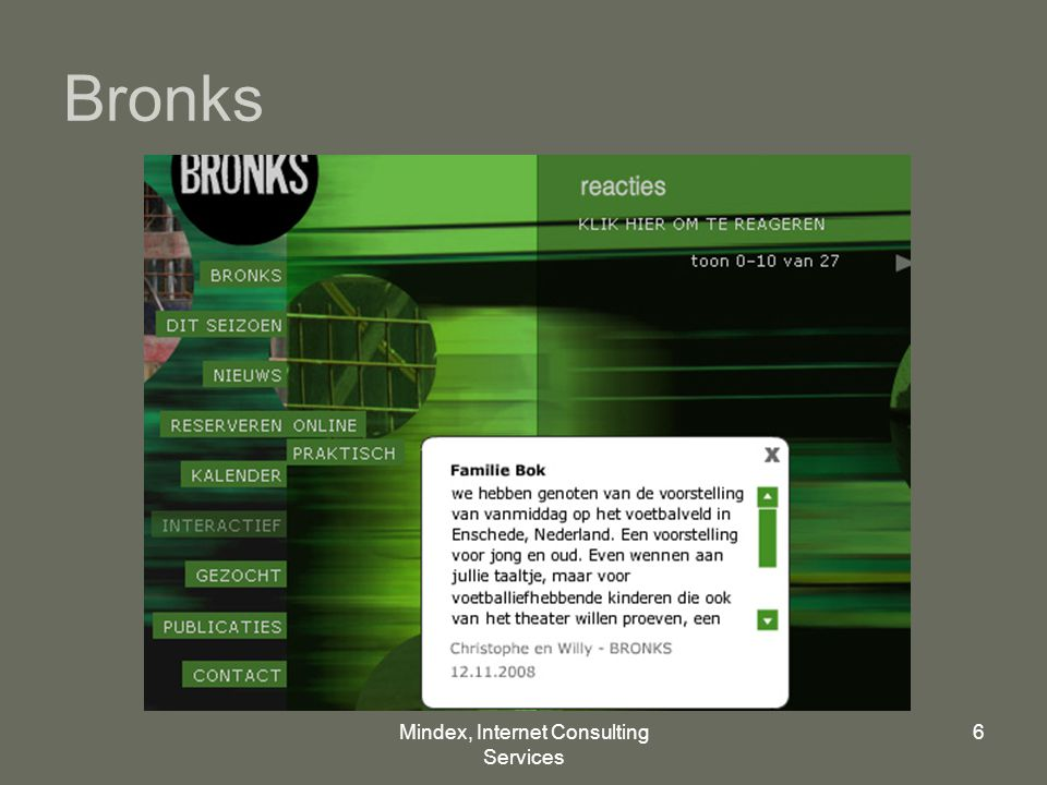 Mindex, Internet Consulting Services 6 Bronks