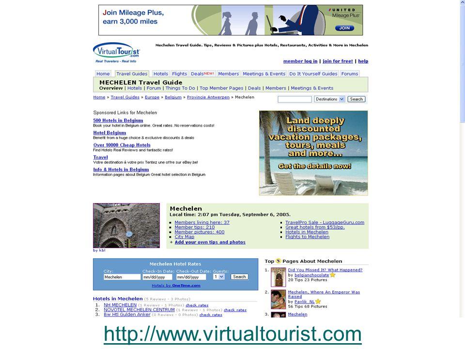CityInMyPocket- studiedag 26 september 2006 16 http://www.virtualtourist.com