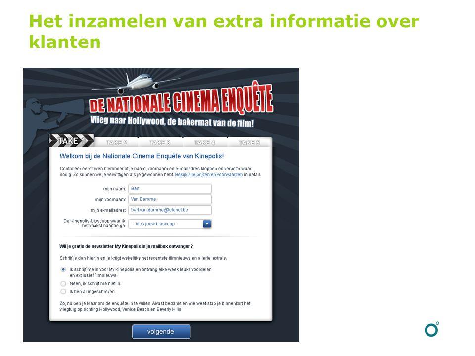 Het inzamelen van extra informatie over klanten