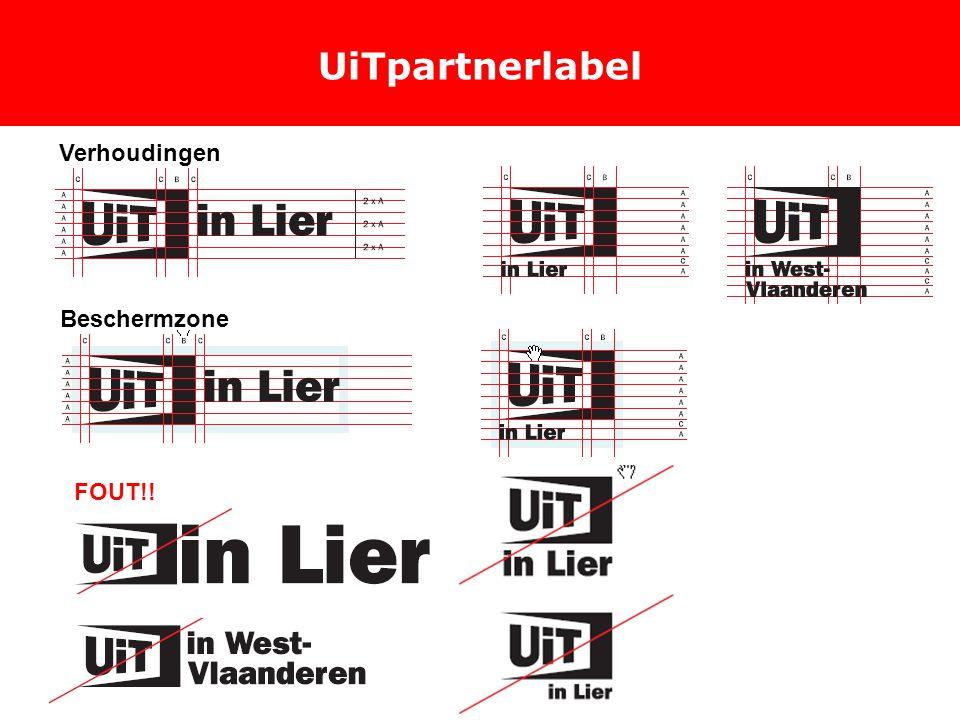 UiTpartnerlabel Verhoudingen Beschermzone FOUT!!