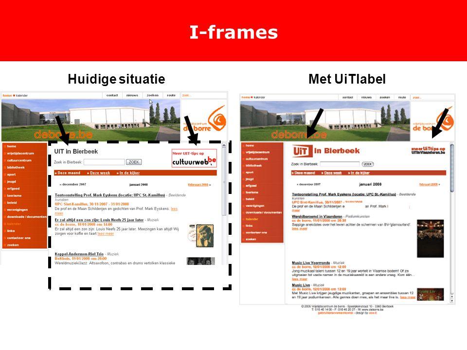 I-frames Huidige situatieMet UiTlabel