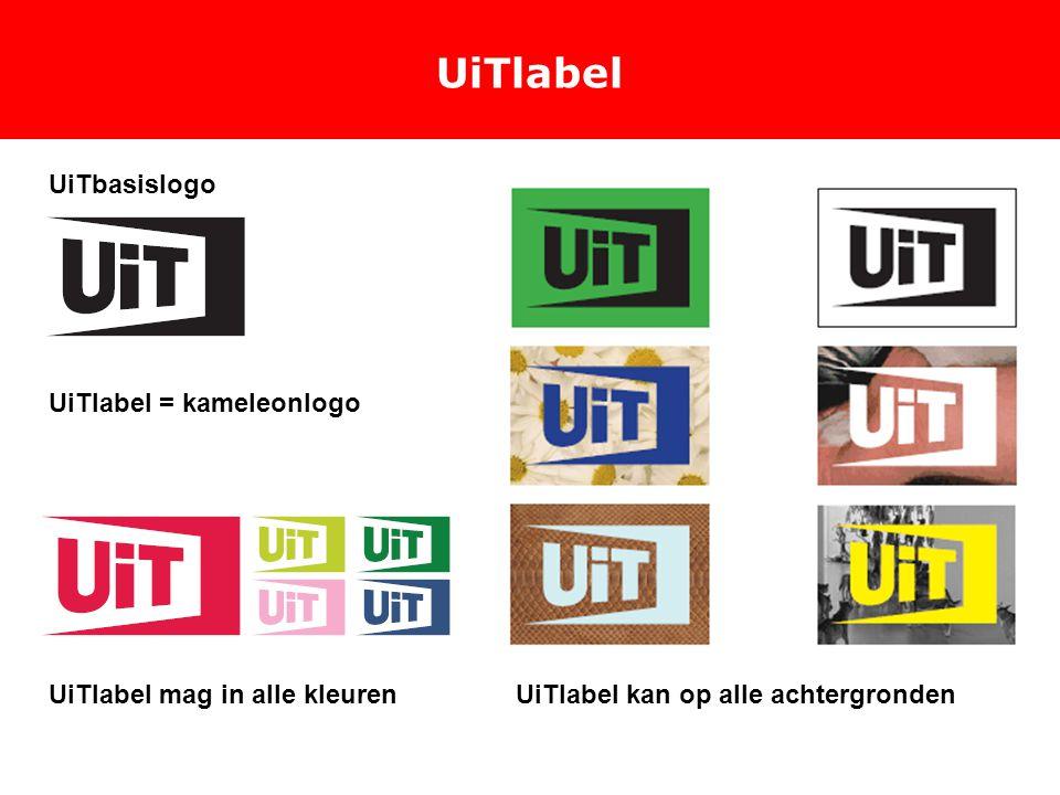 UiTlabel UiTbasislogo UiTlabel kan op alle achtergrondenUiTlabel mag in alle kleuren UiTlabel = kameleonlogo