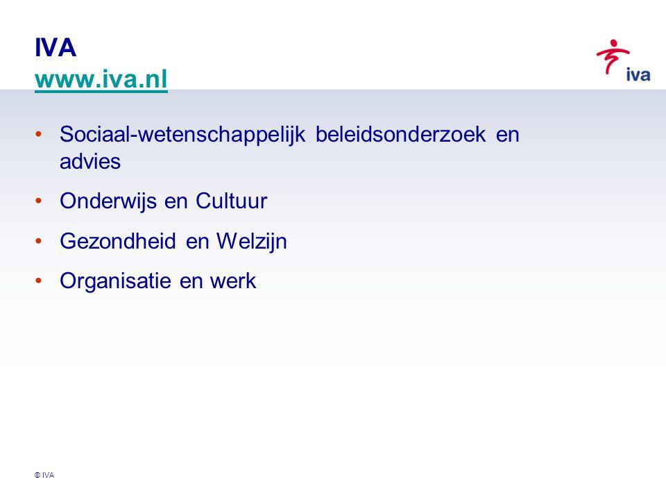 © IVA Overzicht Het Actieplan Cultuurbereik Landelijk Onderzoek Actieplan Cultuurbereik Richtlijn Cultuurparticipatie Onderzoek Voorlopige resultaten Epiloogje