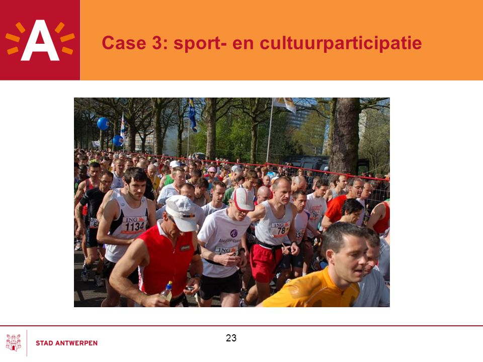 23 Case 3: sport- en cultuurparticipatie