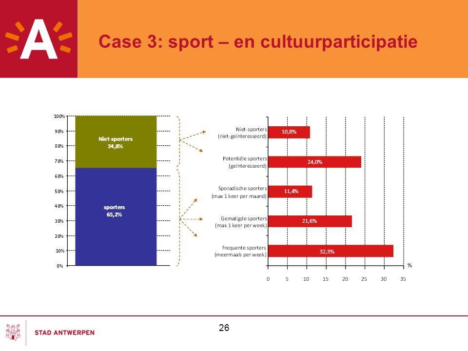 26 Case 3: sport – en cultuurparticipatie
