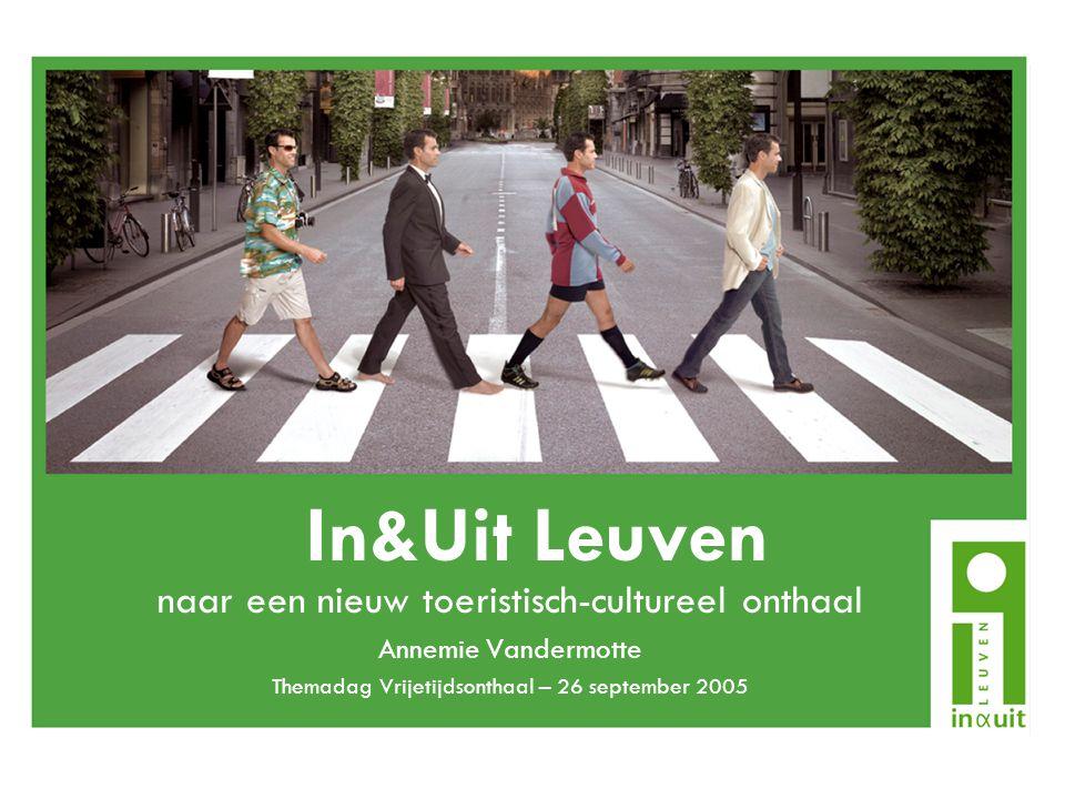Overzicht 1.Balie Toerisme Leuven: vroegere situatie 2.Een nieuw concept voor vrijetijdsonthaal 3.In&Uit Leuven nu 4.Het belang van In&Uit Leuven