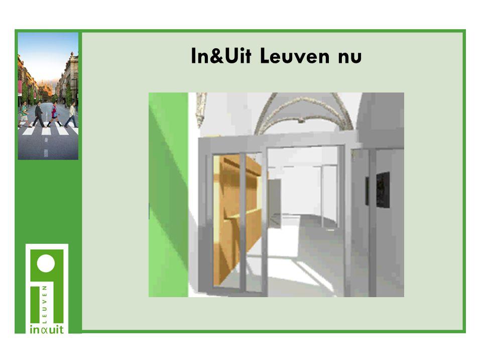 Virtueel -website: www.inenuitleuven.be -infozuilen met toegang tot internet -multimediaschermen In&Uit Leuven nu