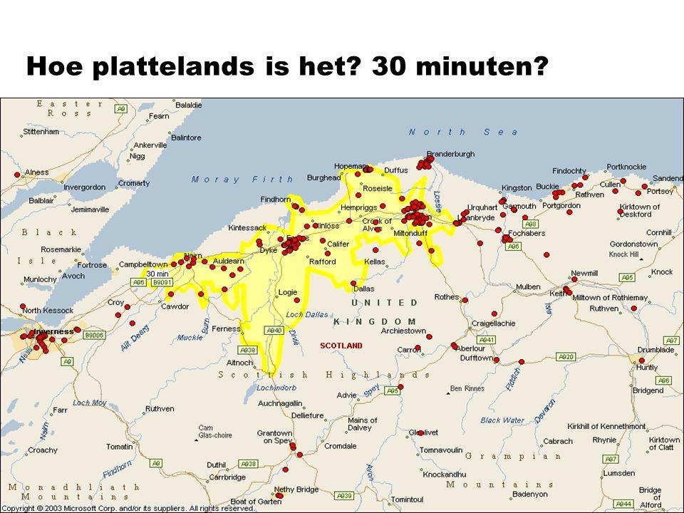 Hoe plattelands is het? 30 minuten?