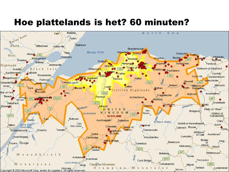 Hoe plattelands is het? 60 minuten?