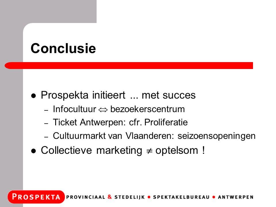 Conclusie Prospekta initieert...