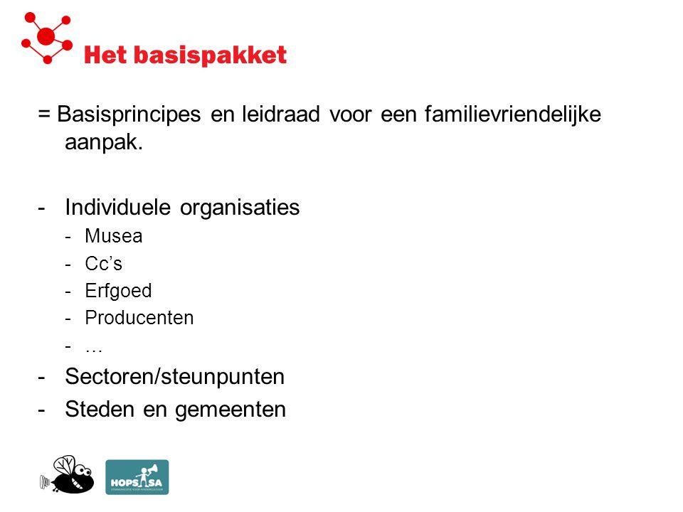 Het basispakket = Basisprincipes en leidraad voor een familievriendelijke aanpak.