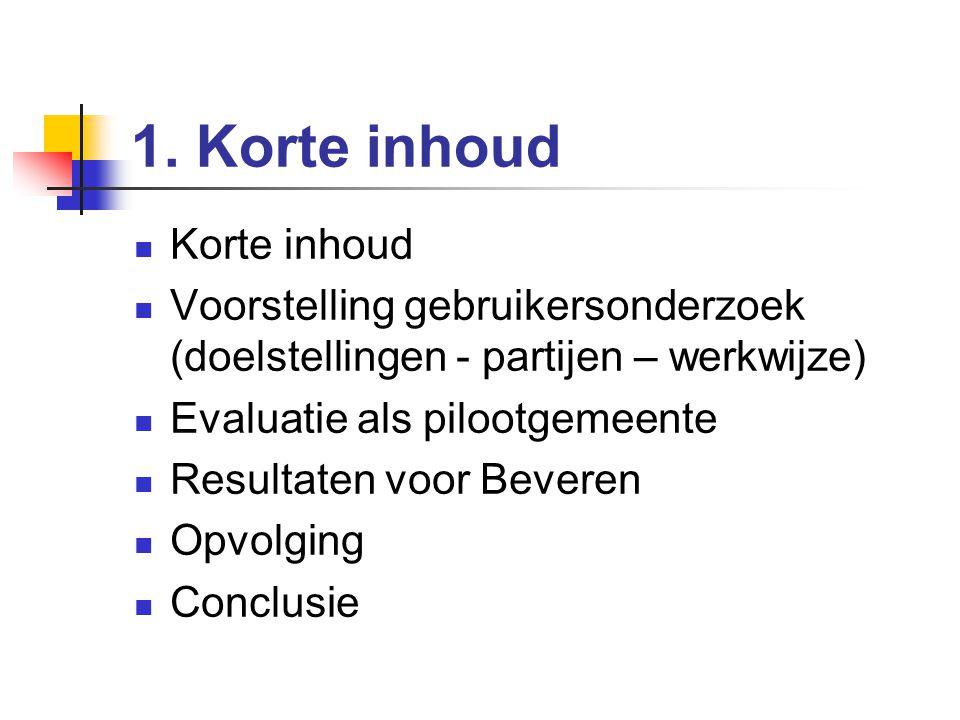Gebruikersonderzoek in CC Ter Vesten 2004-2005 Rik Van Daele