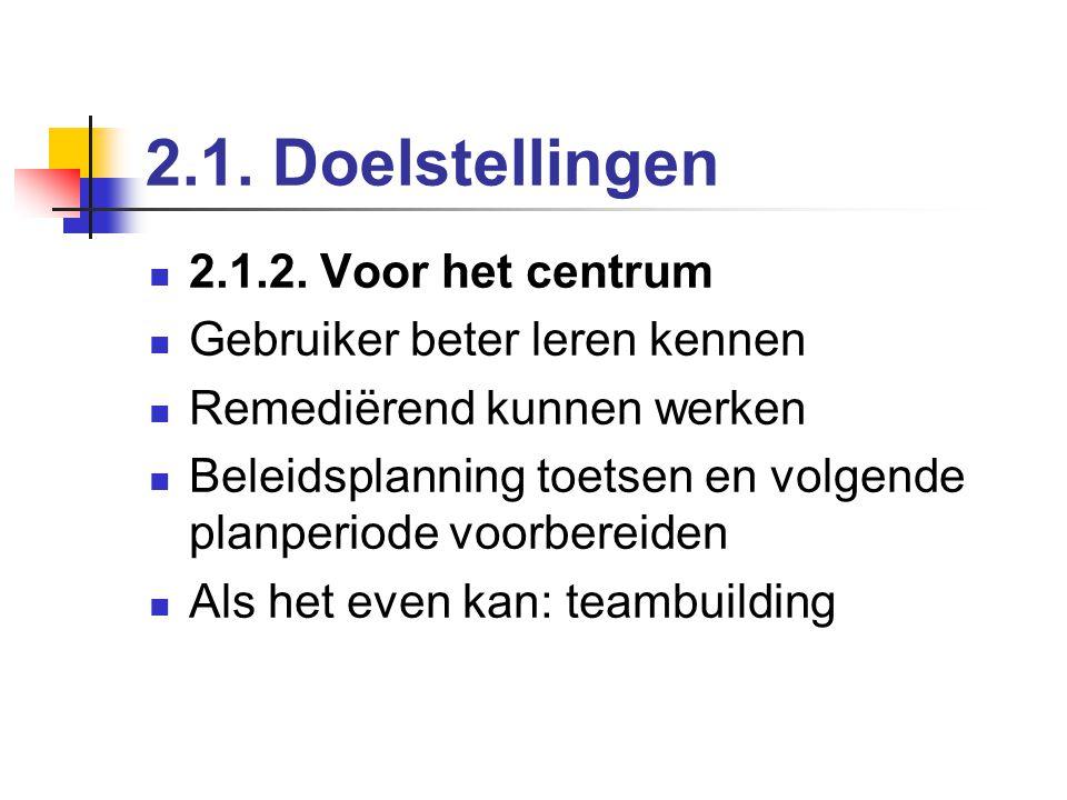 2.1.Doelstellingen 2.1.1.