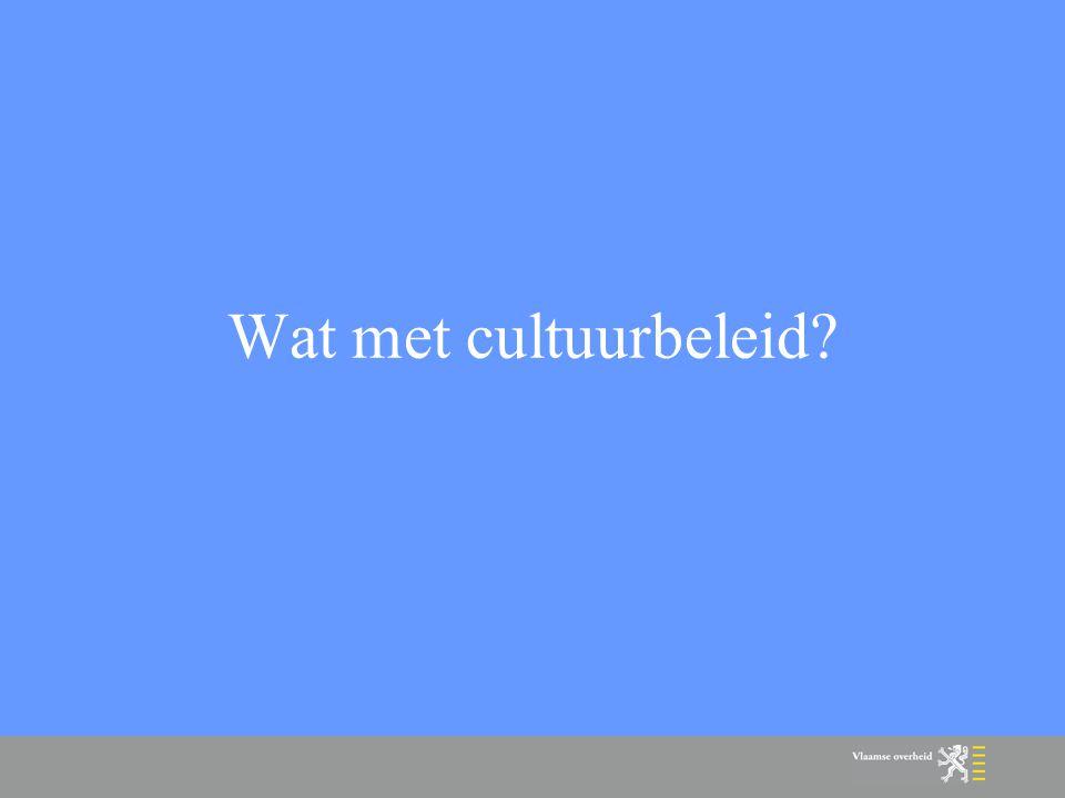 Wat met cultuurbeleid