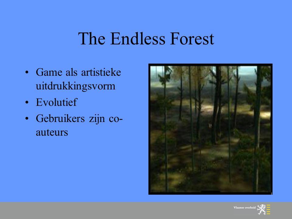 The Endless Forest Game als artistieke uitdrukkingsvorm Evolutief Gebruikers zijn co- auteurs
