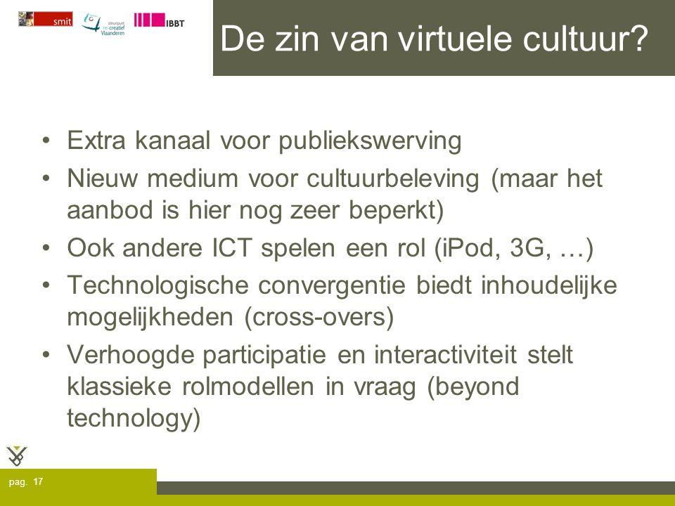 pag. 17 De zin van virtuele cultuur.