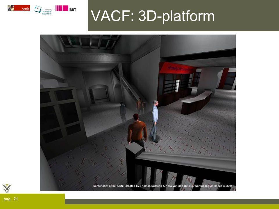 pag. 21 VACF: 3D-platform