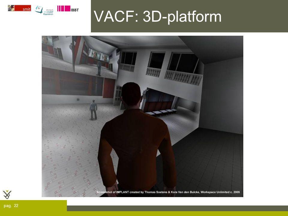 pag. 22 VACF: 3D-platform
