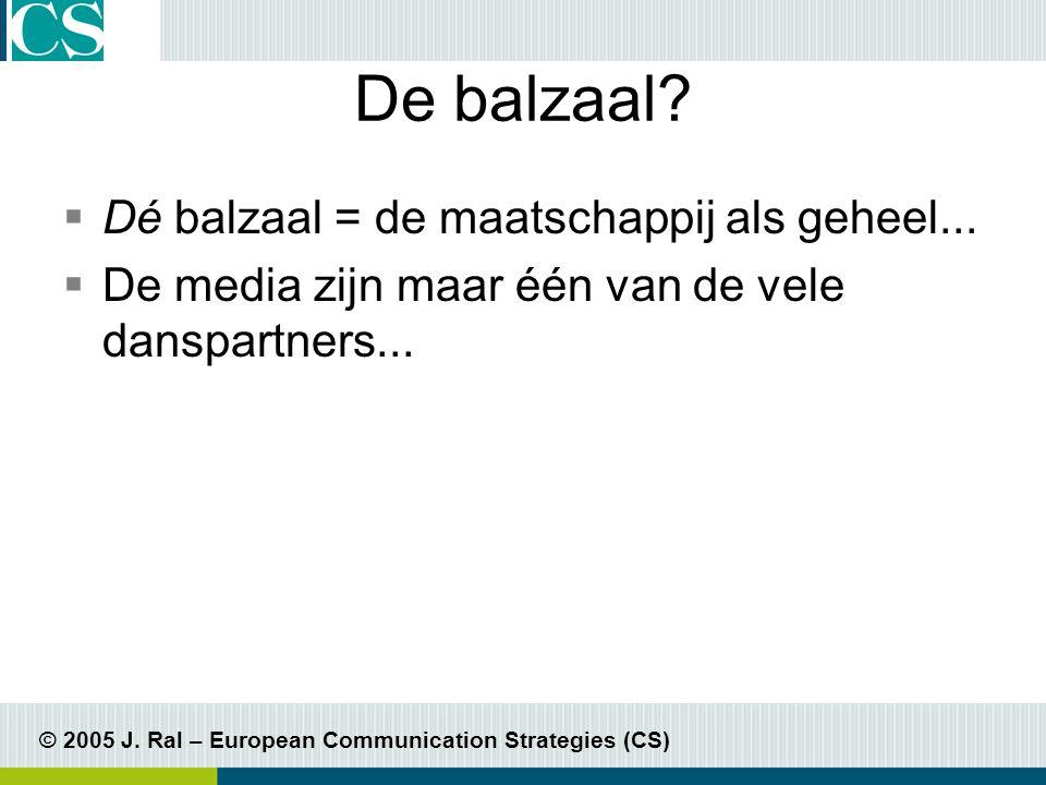 © 2005 J. Ral – European Communication Strategies (CS) Transparantie